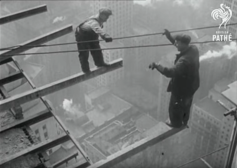 The Brave Men Building the Trump Tower in 1930!