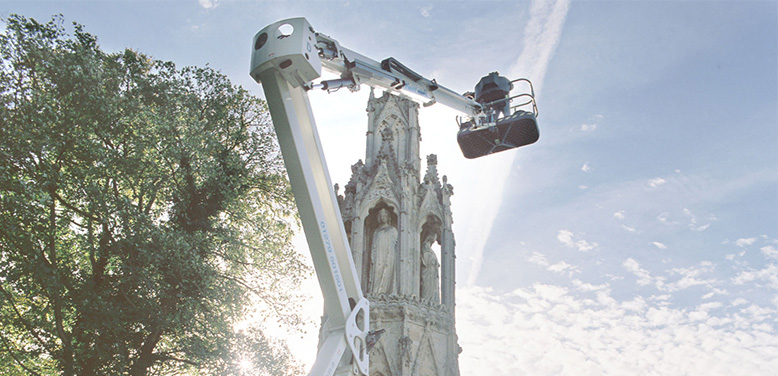 Boom Lift Helps To Safeguard Ancient Monument