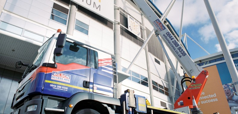 Wilson Access Truck Mount Puts Council  Branding On KCOM Stadium